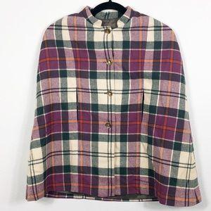 Vintage Clan Laird Wool Plaid Cape Scotland